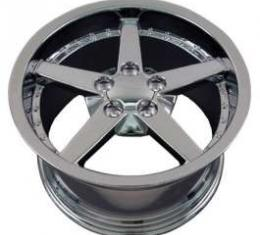 Camaro 18 X 10.5 C6 Style Deep Dish With Rivets Reproduction Wheel, Chrome, 1993-2002