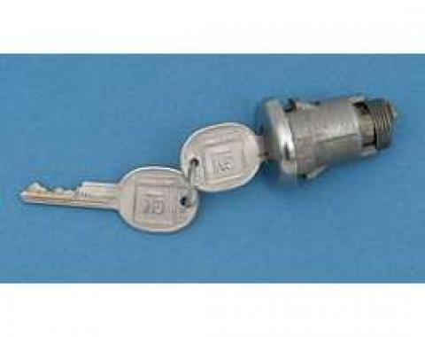 Camaro Trunk Lock, With Late Style Keys, 1968-1969