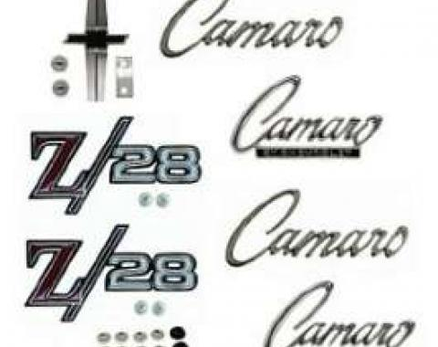 Camaro Emblem Kit, For Z28 With Standard Trim (Non-Rally Sport), 1968