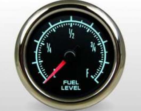 Camaro Fuel Gauge, 2 1/16, Marshall Instruments, Muscle Series, 1967-1969