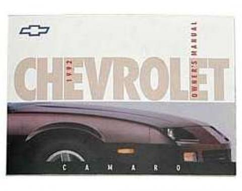 Camaro Owner's Manual, 1992