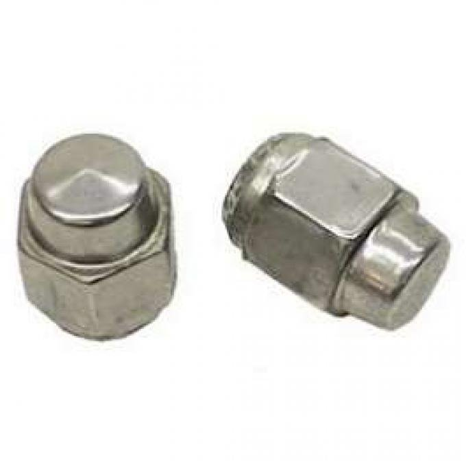 Camaro Super Sport (SS) Acorn-Style Lug Nut, Capped Stainless Steel, 7/16-20 Thread, 1969