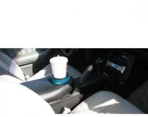 Camaro Console Lid, Black, Padded With Cup Holder, 1982-1992