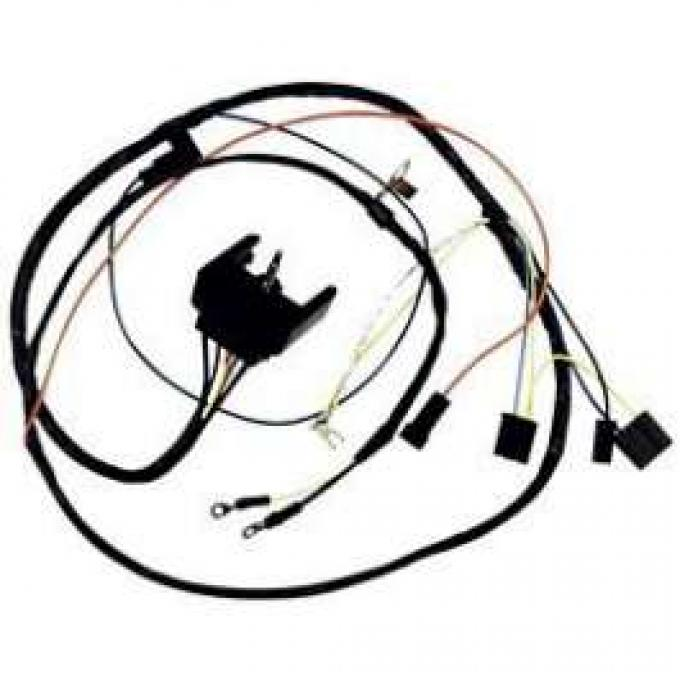 Camaro Engine Wiring Harness, Big Block, For Cars With Warning Lights, 1968-1969