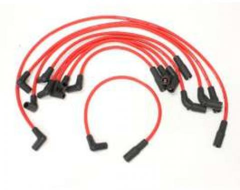 Camaro High Performance Flame Thrower Spark Plug Wires, Red, 1993-1997