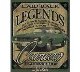 Laid Back Quartz COPO Camaro Tin Sign 12 X 16