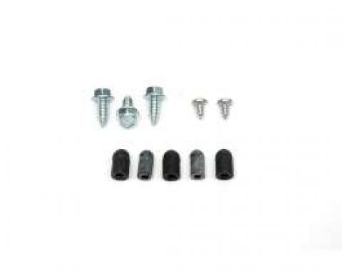 Camaro Windshield Washer Jar Bracket Mounting Screw & Cap Set, Rally Sport (RS), 1968-1969