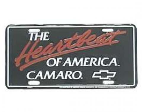 Camaro License Plate, The Heartbeat Of America