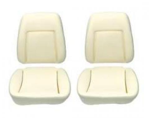 Camaro Bucket Seat Foam Cushions, With Reinforcing Wire, Deluxe Interior, 1969