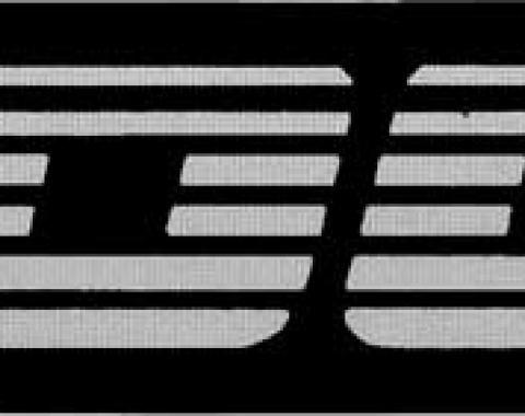 Camaro Rocker Panel Emblem, IROC-Z, Silver, 1982-1992