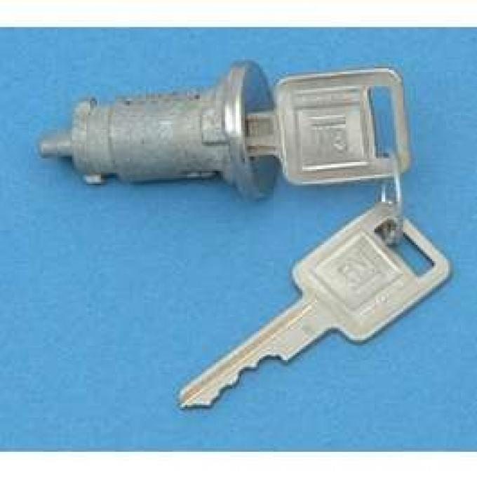 Camaro Ignition Lock, With Late Style Keys, 1967