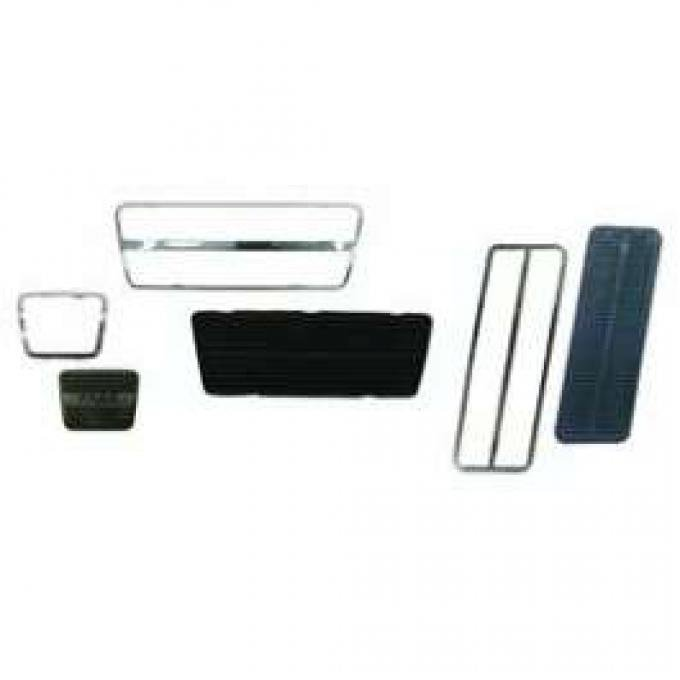 Camaro Pedal Pad & Trim Kit, For Cars With Drum Brakes & Automatic Transmission, 1967-1968