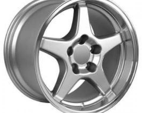 Camaro 17X11 ZR1 Style Deep Dish Wheel, Silver, 1993-2002