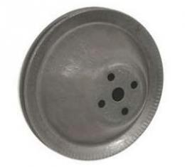Camaro Water Pump Pulley, All V8, Except 302ci, Single Groove, For Cars Without Air Conditioning & A.I.R. Pump, 1967-1968