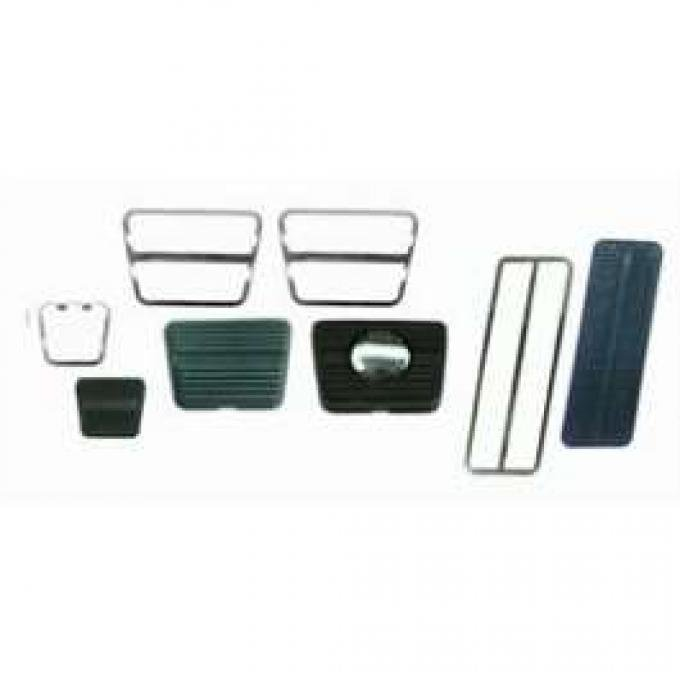Camaro Pedal Pad Kit, For Cars With Disc Brakes & Manual Transmission, With 3 Clutch Pedal 1969-1972