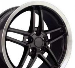 Camaro C6 Z06 Corvette Style Deep Dish Wheel, 17 x 9.5, Black, 1993-2002