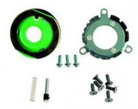 Camaro Horn Cap Contact & Mounting Parts Kit, Wood Steering Wheel, For Cars With Non-Tilt Steering Column, 1969