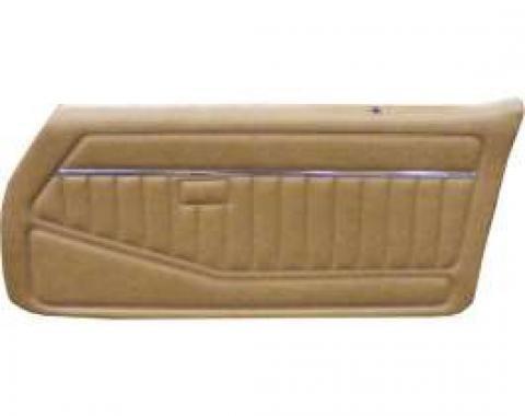 Camaro, Standard Front Pre-assembled Door Panels, Oyster, 1980-1981