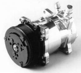 Camaro Air Conditioning Compressor, Chrome, Sanden 508/134A, 1967-1981
