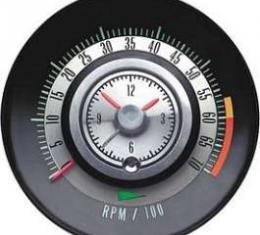 Camaro Clock & Tachometer, Tic-Toc, 6000 RPM Redline, 1968