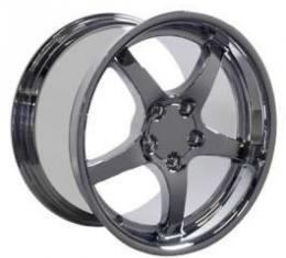 Camaro 18 X 10.5 C5 Style Deep Dish Reproduction Wheel, Chrome, 1993-2002