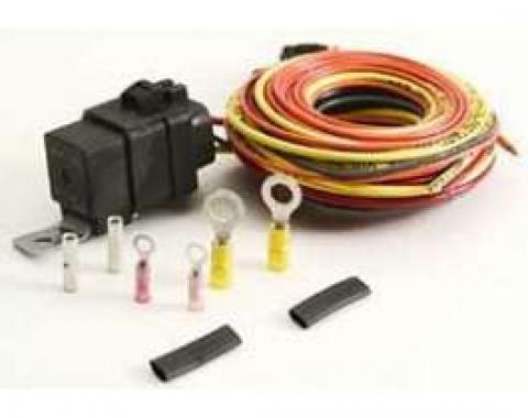 Camaro Single Electric Fan Wiring Harness Kit, Without Thermo Switch, Be Cool, 1967-1969