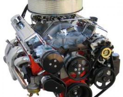 Camaro Vintage Air Front Runner Serpentine System, Small Block, With Power Steering, Black Hard Coat Pulleys & Brackets