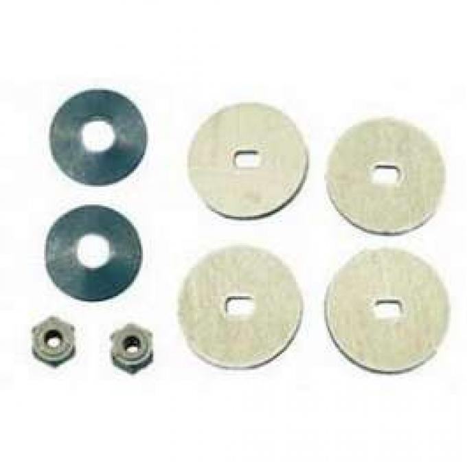 Camaro Headlight Door Motor Nut & Drive Washer Set, Rally Sport (RS), 1967