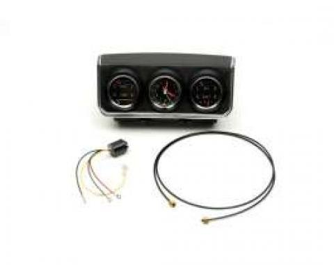 Camaro Console Gauge Assembly, Complete, With Low Fuel Warning Module, 1967
