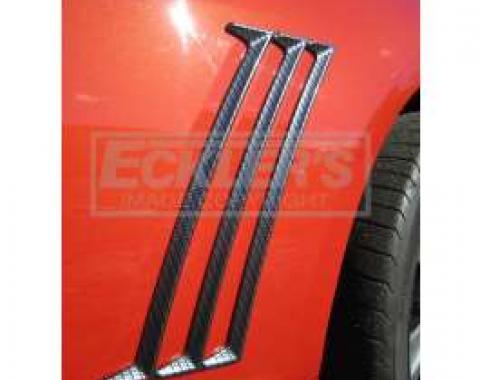 Camaro Quarter Panel Side Molding Set, Carbon Fiber Finish, 2010-2014