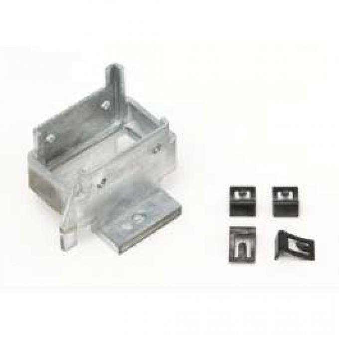 Camaro Convertible Power Top Switch Housing Bracket, With Attachment Clips, 1967-1968