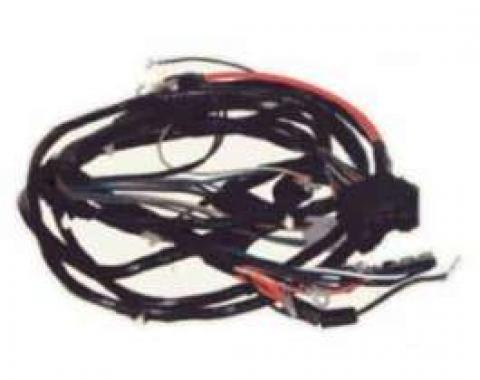 Camaro Front Light Wiring Harness, V8, With Factory Gauges,1970