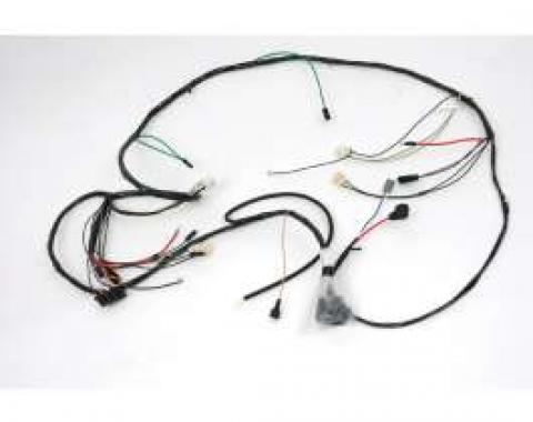 Camaro Front Lighting Wiring Harness, V8, For Cars With Warning Lights, 1969