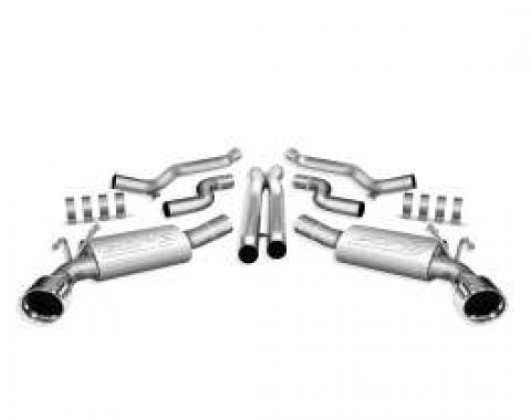 Camaro Exhaust System, Borla S Type Cat-Back With Tips, 6.2L, 2010-2013