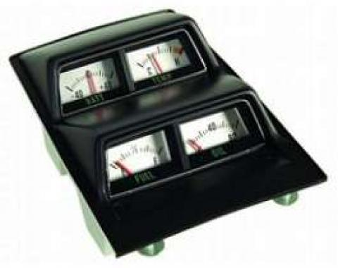 Camaro Console Gauge Assembly, Complete, With Low Fuel Warning Module, 1968-1969