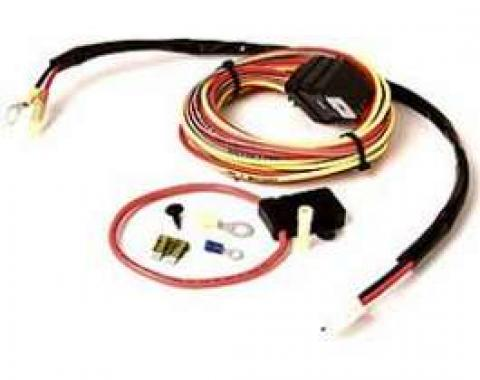 Camaro Cooling Fan Relay Wiring Harness, For Dual Fans, Be Cool, 1970-1992
