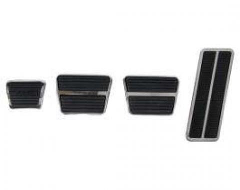 Camaro Pedal Pad & Trim Kit, For Cars With Drum Brakes & Manual Transmission, 1967-1968