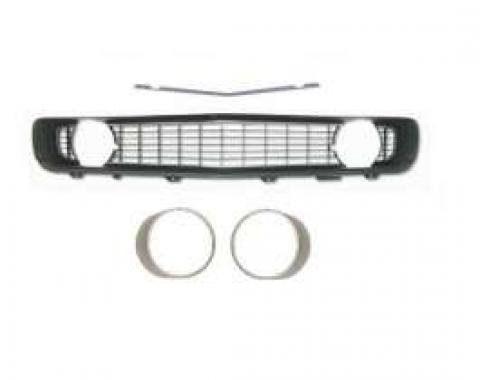 Camaro Grille Kit, With Black Grille & Silver Headlight Bezels Without Trim, For Cars With Standard Trim (Non-Rally Sport), 1969