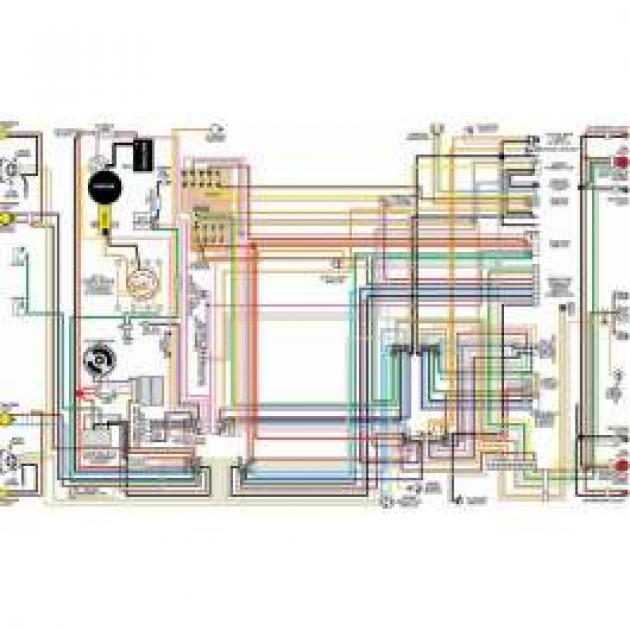 Camaro Color Laminated Wiring Diagram  1970