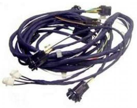 Camaro Rear Body Lighting Wiring Harness, Rally Sport (RS) Coupe, For Cars With Under Dash Lights, 1968