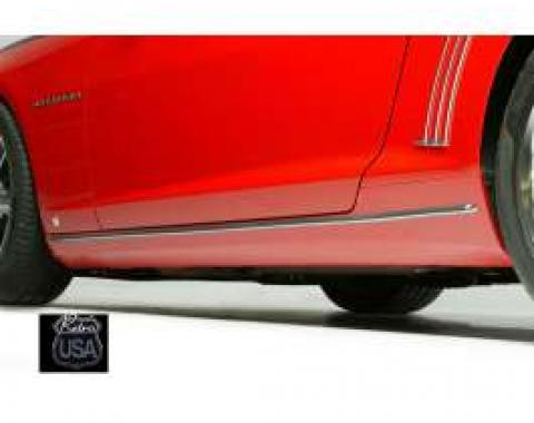 Camaro Chrome Rocker Moldings, 2010-2013