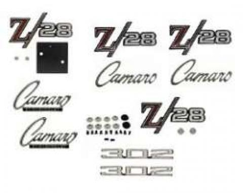 Camaro Emblem Kit, For Z28 With Cowl Induction Hood, 1969