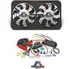 Camaro Fan Kit, Dual Electric, Flex-A-Lite, 12, 2500CFM