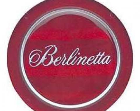 Camaro Steering Wheel Horn Cap Emblem, Berlinetta, 1979-1981