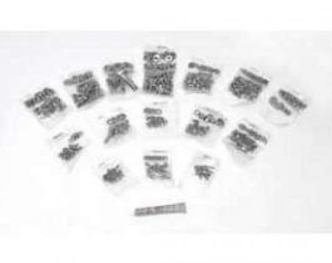 Camaro Body Fastener Kit, Hex Head Style, Stainless Steel, 1974-1977