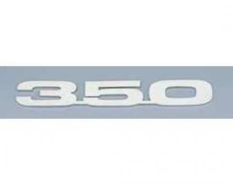 Camaro Hood Emblems, 350, Stainless Steel, 1967-1969