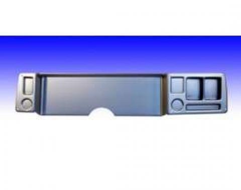 Camaro Dash Panel, Not Drilled, Brushed Aluminum, Blank Panel, 1979-1981