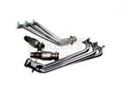Camaro V6 BBK 1-5/8 Full-Length Chrome Headers W/ High-Flow Cats, 2010-2011