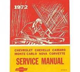 Camaro Service & Shop Manual, 1972