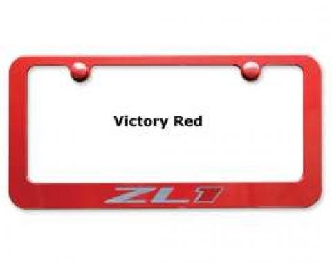 Camaro License Plate Frame,Elite Series, ZL1, Painted Factory Colors, Engraved,2012-2013